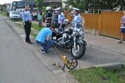 Motociclist cu permisul suspendat, accident în Gilău