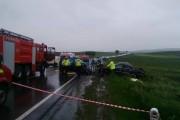 La un pas de tragedie! Un nou accident la Tureni, două persoane au ajuns la spital