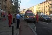 VIDEO - Ambulanță SMURD implicată în accident pe strada Horea. Două persoane au ajuns la spital