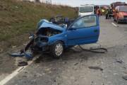 Accident în Gilău. Un șofer din Suceava a ajuns rănit la spital