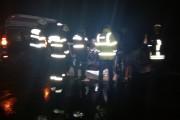 IMAGINI ȘOCANTE! Bărbat ars de viu în accident la Tureni. Au rămas doar oasele! Polițiștii, agresivi cu jurnaliștii