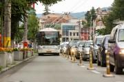 FOTO - Bandă dedicată transportului în comun în Piaţa Ştefan cel Mare din Cluj-Napoca