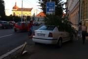 FOTO - Accident în Piața Avram Iancu din Cluj-Napoca