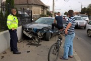 FOTO/VIDEO - Un BMW a intrat sub un TIR, pe strada Traian Vuia. A cui a fost vina