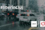(P) Uber se alătură campaniei #liberincluj  Curse Uber cu 50% mai ieftine în Cluj atunci când plouă