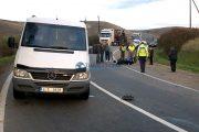 FOTO/VIDEO - Accident grav de motocicletă la Viștea. Bikerul a lovit un autocar și un microbuz