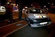 FOTO/VIDEO - Echipaj de poliție implicat în accident în Piața Avram Iancu. IPJ Cluj nu comentează