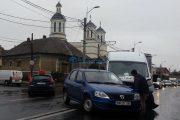 VIDEO - Accident pe strada Traian Vuia. Un șofer din Maramureș nu a fost atent