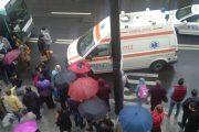 FOTO/VIDEO - Femeie accidentată de autobuz în stația Memorandumului