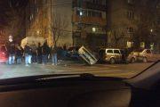 FOTO - Accident spectaculos în Mărăști, pe strada Teleorman