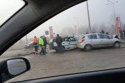 FOTO - Accident în față la Selgros, șase persoane rănite