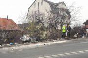 Accident pe Calea Turzii: O mașină a ieșit în decor