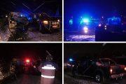 FOTO - Accident la Mănăstirea, lângă Dej. Doi adulți și 4 copii, la un pas de nenorocire