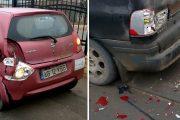 VIDEO - Pericol de EXPLOZIE pe strada Traian Vuia, în urma unui accident rutier