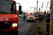 Pericol de incendiu pe strada Arţarului. Un șorfer a rupt o conductă de gaze și a fugit de la locul accidentului