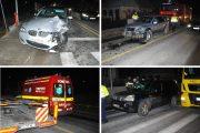 FOTO/VIDEO - Două accidente în Tureni, în același loc, la interval de câteva minute, 5 mașini implicate, o persoană rănită