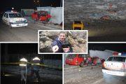 EXCLUSIV - FOTO/VIDEO - Caz șocant în Aghireșu Fabrici. A dat cu mașina peste soție, după care s-a sinucis intrând într-o țeavă de gaz și un zid