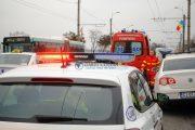 VIDEO - Un bărbat a ajuns la urgențe. S-a răsturnat cu un autogreder pe strada Frunzișului din Cluj-Napoca