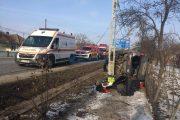 FOTO - Accident grav la Iclod. O familie de maramureșeni a ajuns la spital