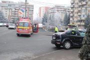 FOTO/VIDEO - Accident lângă Kaufland Mănăștur, o persoană a fost rănită