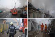 FOTO/VIDEO - Casă de pe strada Traian Vuia, distrusă de foc