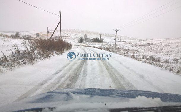 Situaţia drumurilor judeţene din Cluj în 12 decembrie