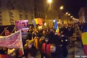 VIDEO - 15.000 de oameni din Cluj-Napoca au cerut demisia Guvernului Grindeanu. Protestatarii, marș prin oraș la -4 grade