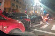 FOTO - Un bistrițean beat a provocat un grav accident pe strada Memorandumului, după ce a intrat pe interzis
