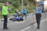 FOTO - Motociclist sibian, accidentat grav la Bike Fest Cluj 2017. Un șofer i-a ieșit direct în față