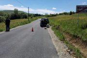 Asfalt proaspăt pe drumul județean 103L Mănăstireni - Râșca