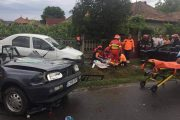 FOTO - Accident terifiant la Gherla. Un bărbat a murit, o altă persoană e grav rănită