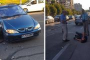 FOTO/VIDEO - Accident de motocicletă pe Calea Mănăștur. Bikerul circula regulamentar!