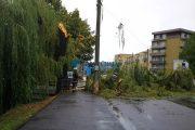 VIDEO - 15 locații au fost afectate în județul Cluj în timpul furtunii de marți după-masă