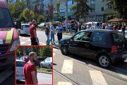 """VIDEO - Cocalarul din """"Maramu"""" a accidentat grav un bărbat pe o trecere de pietoni de pe strada Primăverii. Acum două luni a urmărit și amenințat cu bâta o șoferiță"""
