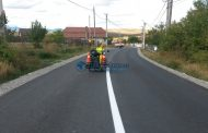 Lucrări de marcaje rutiere pe mai multe drumuri judeţene din Cluj
