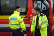 FOTO - Accident grav în Aghireșu Fabrici. Un bărbat a intrat cu mașina pe contrasens și s-a izbit de o alta care circula regulamentar