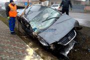 VIDEO - Bătrânel băut, accident spectaculos în Gilău după o cursă demnă de filmele de acțiune