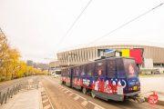 Tramvaiul lui Moș Crăciun își face apariția pe străzile Clujului. Ce program are