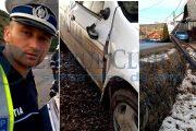 VIDEO - Cocalar încadrat direct în IPJ Cluj, accident cu autospeciala de serviciu. Martor: