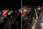 FOTO - Accident pe centura Vâlcele-Apahida. Parapetul a trecut prin mașină, o persoană rănită grav