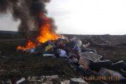Persoană identificată de polițiștii locali după ce a incendiat deșeuri