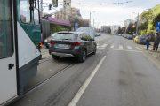 FOTO - Tramvaie blocate aproape o oră la Minerva