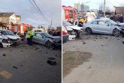 FOTO - Accident foarte grav pe strada Frunzișului, trei răniți
