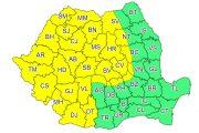 Cluj, dar și alte județe, sub COD GALBEN de avertizare meteo. Când intră în vigoare și cât durează