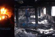 VIDEO - Biserică din județul Cluj, monument istoric, mistuită de foc