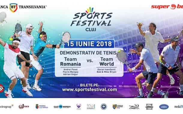 Demonstrativ de tenis de câmp la Cluj cu trei legende mondiale