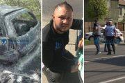 FOTO/VIDEO - Așa arată mașina șoferului criminal. I-a dat foc să ascundă urmele, dar i-a scăpat un detaliu