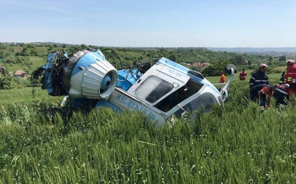 Elicopter prăbușit la Turda. Pasagerii au supraviețuit!