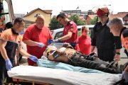 VIDEO - Bărbat rănit grav pe un șantier de pe strada Oașului. Lucra la negru?