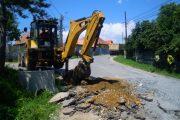 Lucrări pe drumul județean 103T Feleacu – Pârtia de schi Feleacu